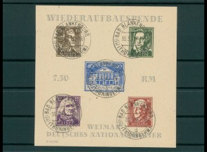 SBZ 1945 Bl.3B gestempelt (202710)