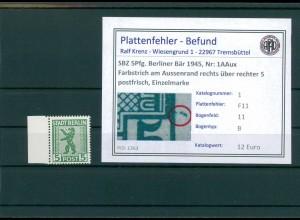 SBZ 1945 Nr 1AAux F11 postfrisch (204381)