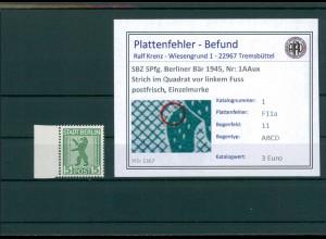 SBZ 1945 Nr 1AAux F11a postfrisch (204383)