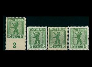 SBZ 1945 4x Nr 1B siehe Beschreibung (205179)