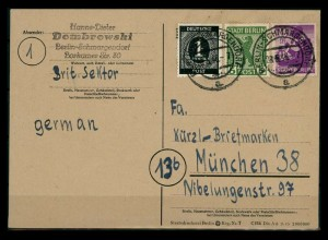 SBZ BERLIN-BRANDENBURG Postkarte siehe Beschreibung (205313)