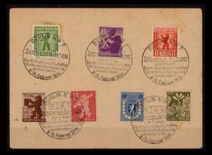 SBZ BERLIN-BRANDENBURG 1945 Nr 1-7 gestempelt (206243)