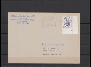 BUND 1992 Brief mit Bogenecke und Formnummer (206646)