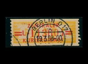 DDR ZKD 1958 Nr 17L IV gestempelt (400921)
