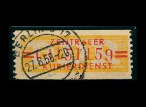 DDR ZKD 1958 Nr 17L III gestempelt (400922)