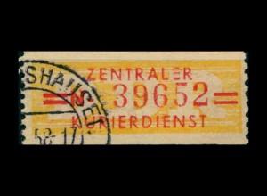 DDR ZKD 1958 Nr 17L I gestempelt (400923)