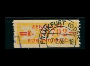 DDR ZKD 1958 Nr 17K I gestempelt (400924)