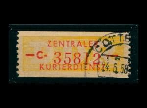 DDR ZKD 1958 Nr 16C I gestempelt (400927)
