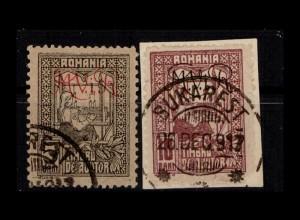 MV IN RUMAENIEN 1917 Nr ZZ1+2 gestempelt (404325)