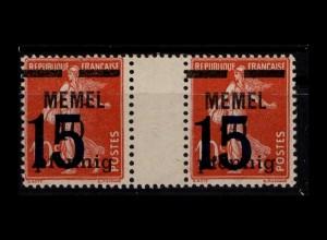 MEMEL 1921 Nr 34 ZW postfrisch (404335)