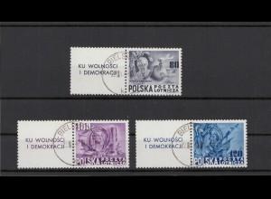 POLEN 1948 Nr 515-517 ZF gestempelt (404930)