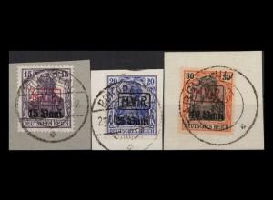 MV IN RUMAENIEN 1917 Nr 1-3 gestempelt (405073)