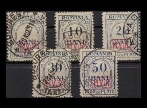 MV IN RUMAENIEN 1917 Nr P1-5 gestempelt (405081)