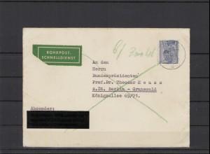 BERLIN 1954 ROHRPOST Brief siehe Beschreibung (209931)