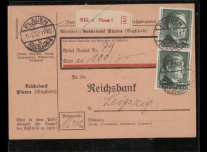 WERT-Paketkarte 1942 PLAUEN siehe Beschreibung (210135)