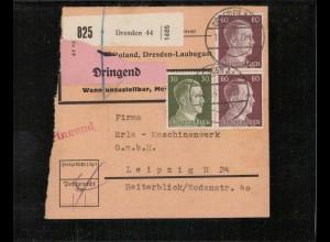 Paketkarte 1943 DRESDEN siehe Beschreibung (210136)