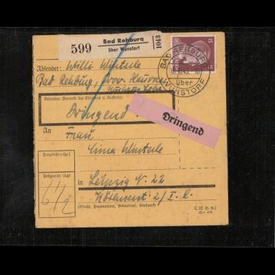 Paketkarte 1943 BAD REHBURG siehe Beschreibung (210137)