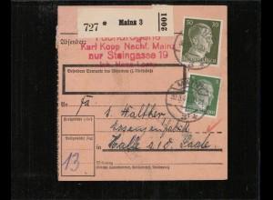 PAKETKARTE 1943 MAINZ siehe Beschreibung (210686)