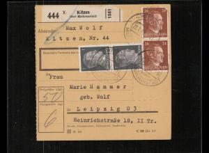 PAKETKARTE 1943 KITZEN siehe Beschreibung (210688)