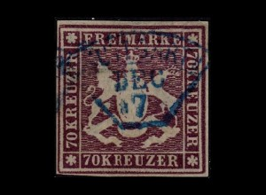 WUERTTEMBERG 1873 Nr 42a gestempelt (211733)