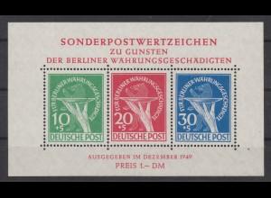 BERLIN 1949 Bl.1 II postfrisch (211909)