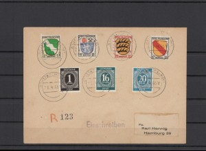 FRZ.ZONE 1946 interessanter Brief (211929)