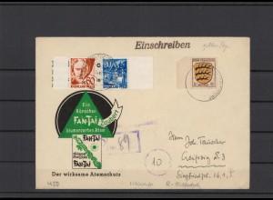 FRZ.ZONE 1946 interessanter Brief (211938)