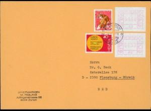 SCHWEIZ ATM 1976 Brief (212436)