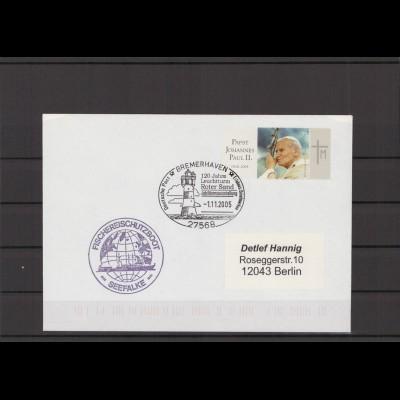 SCHIFFSPOST - 2005 Echt gelaufener Schiffspost- Brief (212793)