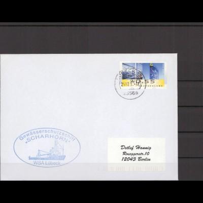 SCHIFFSPOST - 2013 Echt gelaufener Schiffspost- Brief (212794)