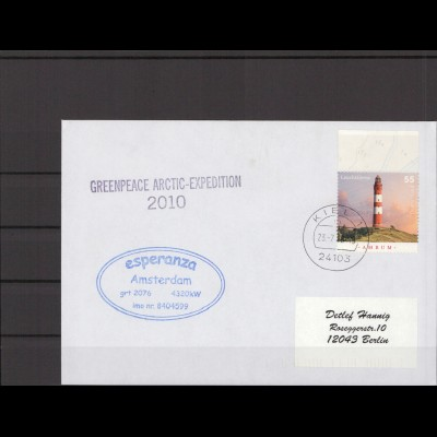 SCHIFFSPOST - 2010 Echt gelaufener Schiffspost- Brief (212795)