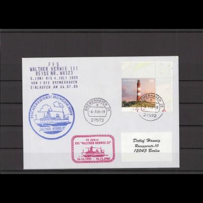 SCHIFFSPOST - 2009 Echt gelaufener Schiffspost- Brief (212797)
