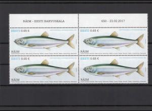ESTLAND 2017 - Viererblock Nr 883 postfrisch (212967)