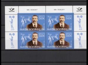 ESTLAND 2017 - Viererblock Nr 895 postfrisch (212970)