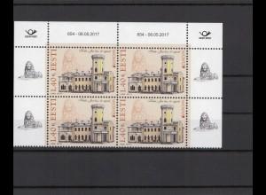 ESTLAND 2017 - Viererblock Nr 890 postfrisch (212971)