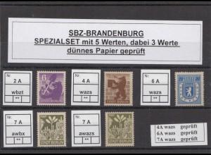 SBZ 1945 Kleines Lot postfrisch (213210)