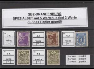 SBZ 1945 Kleines Lot postfrisch (213211)