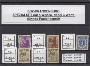 SBZ 1945 Kleines Lot postfrisch (213212)