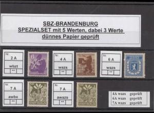 SBZ 1945 Kleines Lot postfrisch (213213)