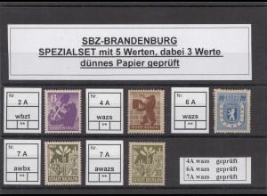 SBZ 1945 Kleines Lot postfrisch (213214)