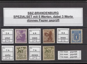 SBZ 1945 Kleines Lot postfrisch (213215)