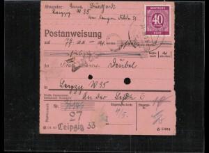 KONTROLLRAT 1946 POSTANWEISUNG siehe Beschreibung (406985)