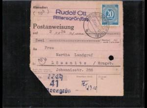 KONTROLLRAT 1946 POSTANWEISUNG siehe Beschreibung (406986)