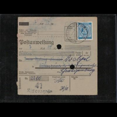 KONTROLLRAT 1946 POSTANWEISUNG siehe Beschreibung (406987)