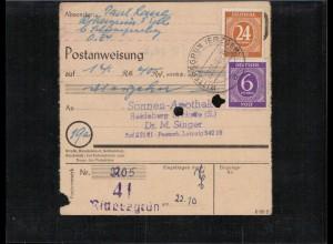 KONTROLLRAT 1946 POSTANWEISUNG siehe Beschreibung (406989)