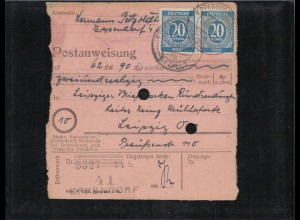 KONTROLLRAT 1946 POSTANWEISUNG siehe Beschreibung (406990)
