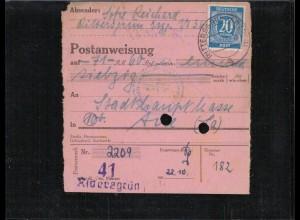 KONTROLLRAT 1946 POSTANWEISUNG siehe Beschreibung (407010)