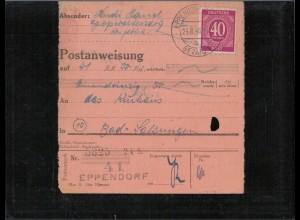 KONTROLLRAT 1946 POSTANWEISUNG siehe Beschreibung (407011)