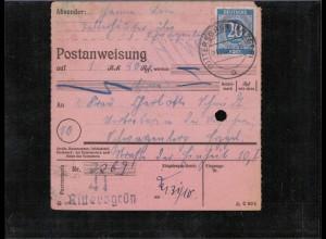 KONTROLLRAT 1946 POSTANWEISUNG siehe Beschreibung (407018)