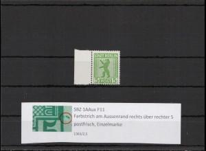 SBZ 1945 PLATTENFEHLER Nr 1AAux F11 postfrisch (407289)